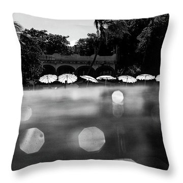 Throw Pillow featuring the photograph Umbrellas 2 by Nik West