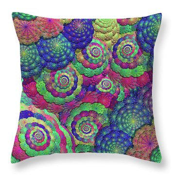 Umbrellas And Shells Throw Pillow