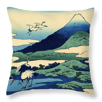 Umegawa In Sagami Province, One Of Thirty Six Views Of Mount Fuji Throw Pillow