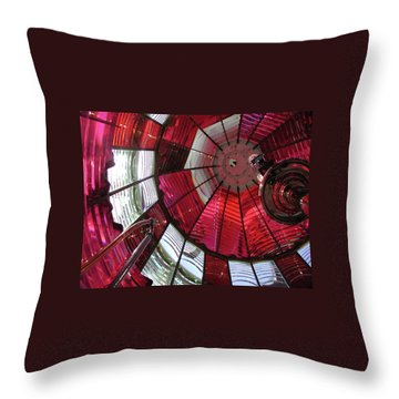 Umpqua River Red Throw Pillow