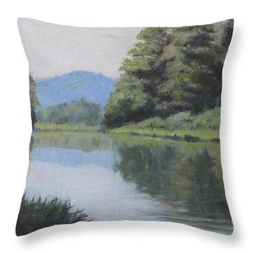 Umpqua River Throw Pillow