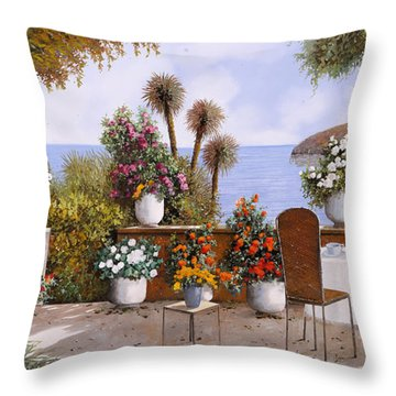 Un Caffe Davanti Al Lago Throw Pillow