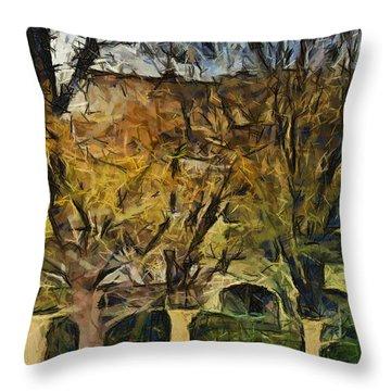 Un Cheteau Dans Le Paradis - Two Of Two  Throw Pillow by Sir Josef - Social Critic -  Maha Art