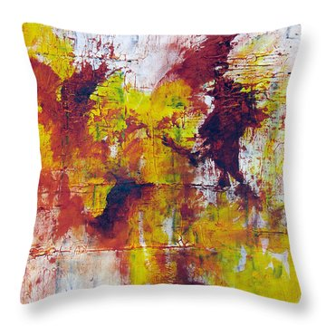 Throw Pillow featuring the painting Unafraid by Rick Baldwin