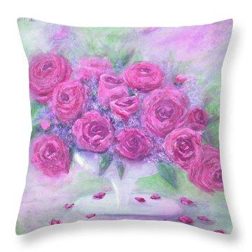 Armchair Rose Garden Throw Pillow