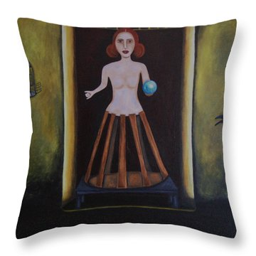 Uncaged Throw Pillow by Leah Saulnier The Painting Maniac