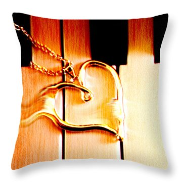 Unchained Melody Throw Pillow by Linda Sannuti