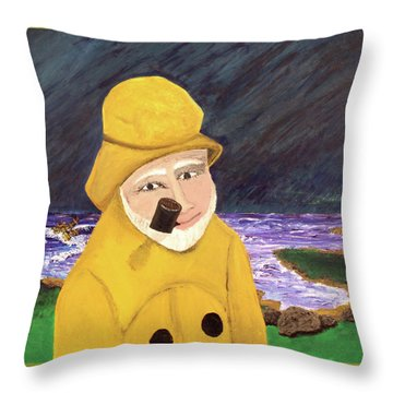 Uncle Bunk Throw Pillow by Thomas Blood