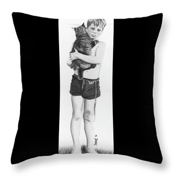 Throw Pillow featuring the painting Uncle George by Ferrel Cordle