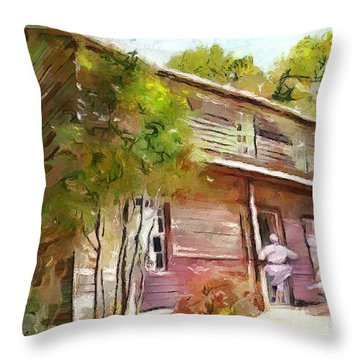 Uncle Tom's Cabin Throw Pillow