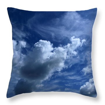 Unclouded Mind Throw Pillow