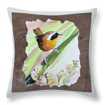 Uncommon Yellowthroat Throw Pillow