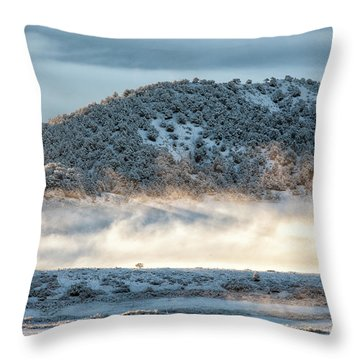 Uncompaghre Valley Fog Throw Pillow