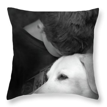 Unconditional Throw Pillow by Cathy  Beharriell