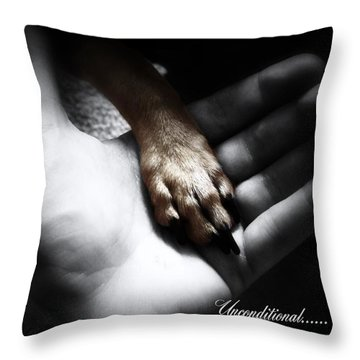 Throw Pillow featuring the photograph Unconditional by Shana Rowe Jackson