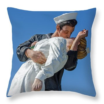Unconditional Surrender 2 Throw Pillow by Susan  McMenamin