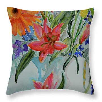 Throw Pillow featuring the painting Uncontainable by Beverley Harper Tinsley