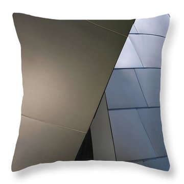 Unconventional Construction Throw Pillow by Rona Black