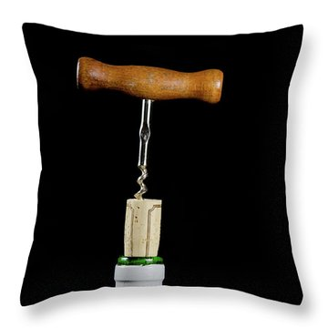 Throw Pillow featuring the photograph Uncorking  by Kennerth and Birgitta Kullman
