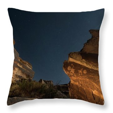 Uncounted Years Under The Moonlight Throw Pillow