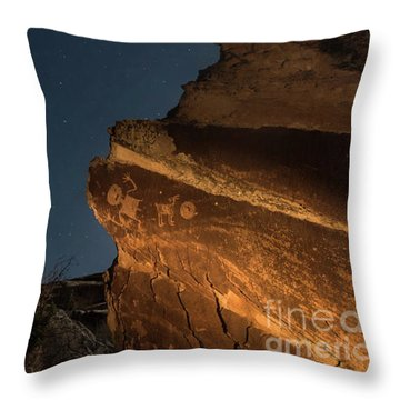 Throw Pillow featuring the photograph Uncounted Years Under The Moonlight by Melany Sarafis