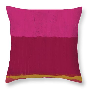 Undaunted Pink 2- Art By Linda Woods Throw Pillow