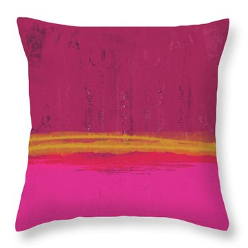Undaunted Pink Abstract- Art By Linda Woods Throw Pillow