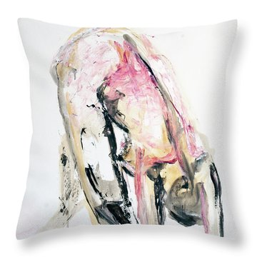 Under 140002 Throw Pillow by AnneKarin Glass