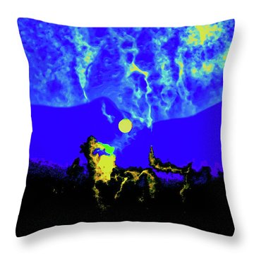 Under A Full Moon Throw Pillow