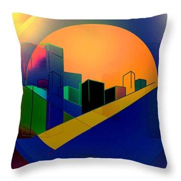 Under A Full Moon Throw Pillow by John Krakora