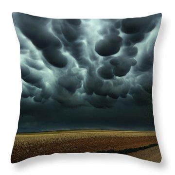 Under A Mammatus Sky Throw Pillow
