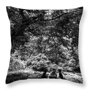 Under A Tree Throw Pillow