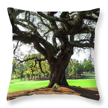 Under An Augusta Oak Throw Pillow