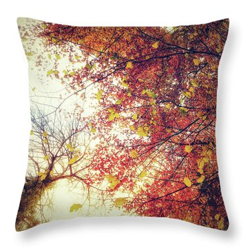 Under An Autumn Sky Throw Pillow