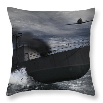 Under Attack Throw Pillow by Richard Rizzo