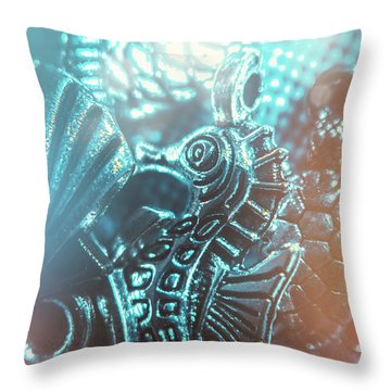 Under Blue Seas Throw Pillow