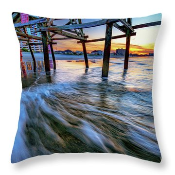Under Cherry Grove Pier 2 Throw Pillow