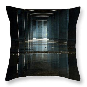 Under Clark Bridge Throw Pillow by Jae Mishra