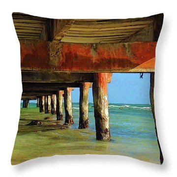 Under Dock Throw Pillow