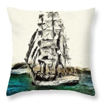 Under Full Canvas Throw Pillow by Blair Stuart