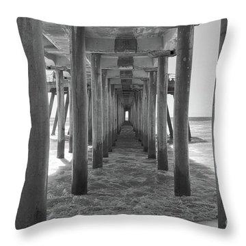 Under Huntington Beach Pier Throw Pillow by Ana V Ramirez