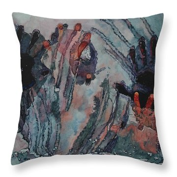 Under Ice Throw Pillow by Valerie Patterson