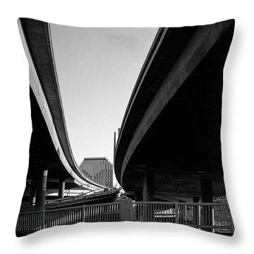 Under Interstate 5 Sacramento Throw Pillow