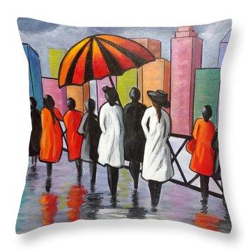 Under My Umbrella Throw Pillow