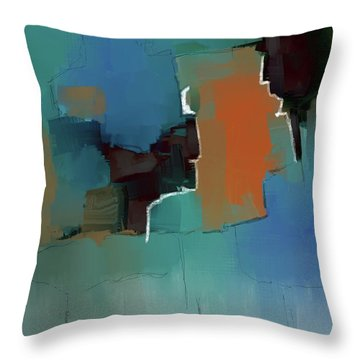 Throw Pillow featuring the mixed media Under Pressure by Eduardo Tavares