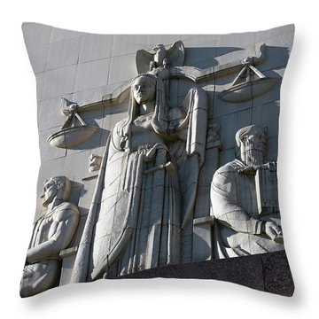 Under Scales Of Justice Throw Pillow