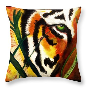 Under Scrutiny Throw Pillow by Renee Michelle Wenker