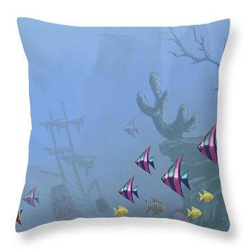 Under Sea 01 Throw Pillow