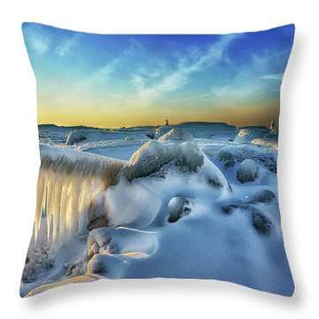 Under Siege  Throw Pillow