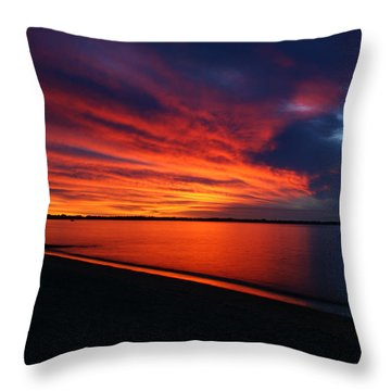 Under The Blood Red Sky Throw Pillow